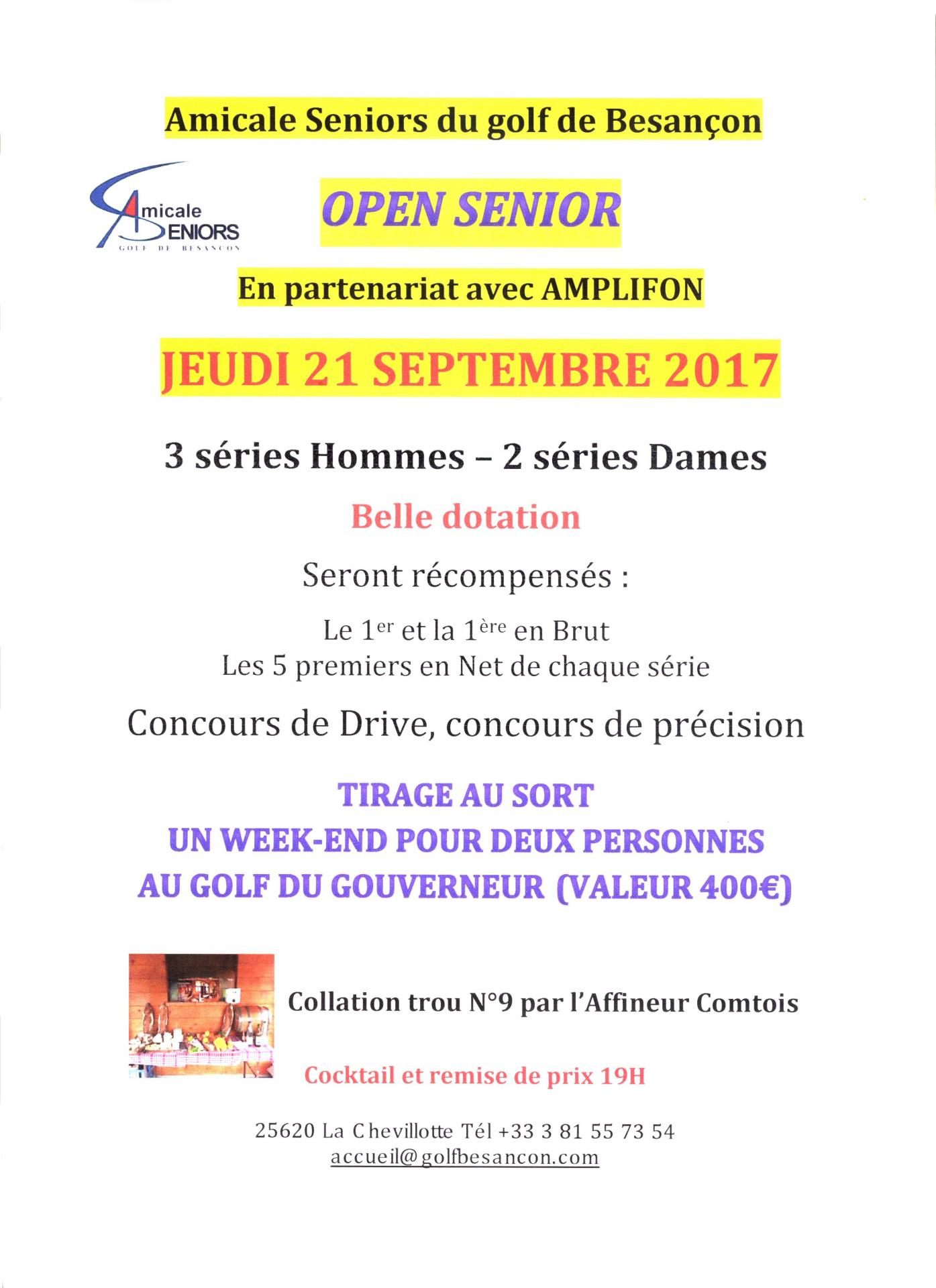 Open senior besancon